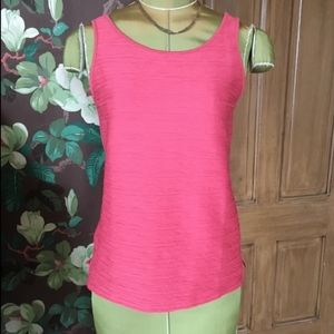 Ann Taylor Factory Textured Coral Tank Top